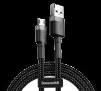 Кабель Baseus Cafule Usb to Micro Usb cable 2.4A 1 M CAM серо-черный