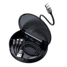 Кабель Baseus Car Sharing Charging Station (Type-C+Dual USB) черный