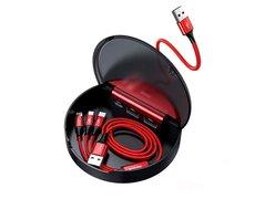 Кабель Baseus Car Sharing Charging Station (Type-C+Dual USB) красный