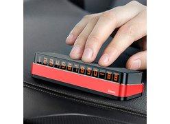 Автовизитка Baseus Moonlight Box Series Temporary Parking Number Plate красный