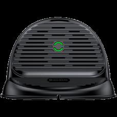 Беспроводная зарядка Baseus Silicone Horizontal Desktop Wireless Charger черный