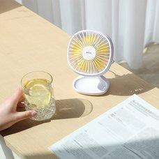 Вентилятор настольный портативный Baseus Pudding-Shaped Fan белый
