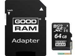 Карта памяти GOODRAM M1AA microSDXC M1AA-0640R12 64GB (с адаптером)