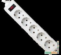 Сетевой фильтр Defender ES 1.8 1.8 м, белый, 5 розеток