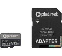 Карта памяти Platinet Pro 3 microSDXC PMMSDX512UIII 512GB + адаптер