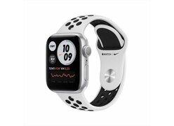 Умные часы Apple Watch Nike Series 6 40 мм (серебристый/черный спортивный)