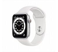 Умные часы Apple Watch Series 6 44 мм (серебристый алюминий/белый спортивный)
