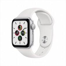 Умные часы Apple Watch SE 40 мм (алюминий серебристый/белый спортивный)