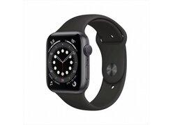 Умные часы Apple Watch Series 6 44 мм (алюминий серый космос/черный спортивный)