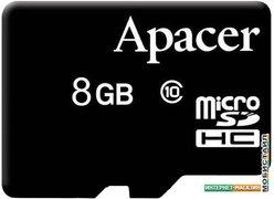 Карта памяти Apacer microSDHC (Class 10) 8GB (AP8GMCSH10-RA)