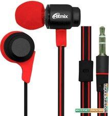 Наушники Ritmix RH-185 (черный/красный)