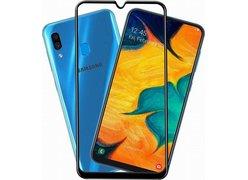 Защитное стекло Samsung  Galaxy A30/A50 Black (ПОЛНАЯ ПРОКЛЕЙКА)