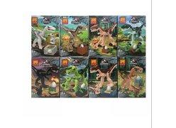 Конструктор 39154 LELE Динозавры 8 видов, 16 в уп