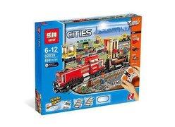 Конструктор Lepin 02039 Красный Товарный Поезд
