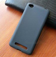Чехол-накладка для Xiaomi Redmi 4A (чёрный силикон)