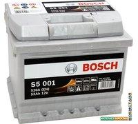 Автомобильный аккумулятор Bosch S5 001 (552401052) 52 А/ч