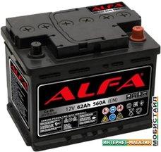 Автомобильный аккумулятор ALFA Hybrid 62 R (62 А·ч)