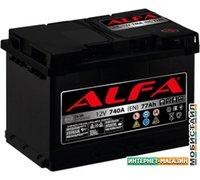 Автомобильный аккумулятор ALFA Hybrid 77 R (77 А·ч)
