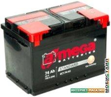 Автомобильный аккумулятор A-mega Standard 74 L (74 А·ч)
