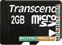 Карта памяти Transcend microSD 2 Гб (TS2GUSD)