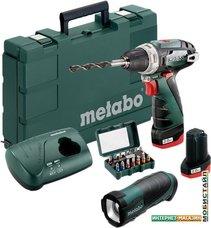 Дрель-шуруповерт Metabo PowerMaxx BS Basic Set 600080930 (с 2-мя АКБ, насадки, фонарь)