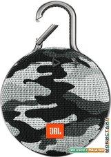 Беспроводная колонка JBL Clip 3 (черно-белый камуфляж)