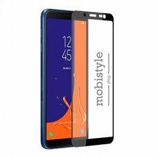 Защитное стекло для Samsung J720 (J7-2018) Black 3D Optima