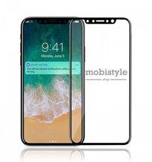 Защитное стекло для iPhone X (M-Design) Black 5D Optima
