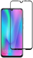 Защитное стекло для Huawei P Smart 2019 ПРОТИВОУДАРНОЕ (ЧЁРНОЕ 3D)