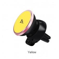 Автомобильный магнитный держатель Hoco CA3 (черный/желтый)