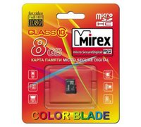 Карта памяти microSDHC MIREX 8GB (class 10) 13612-MC10SD08