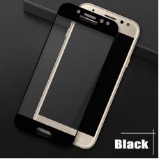 Защитное 3D стекло для Samsung J720 (J7-2018) чёрное
