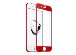 Защитное 3D стекло для iPhone 7 (цвет: красный)
