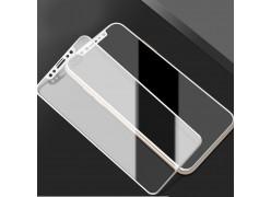 Защитное стекло 5D для iPhone X (M-Design) Белое