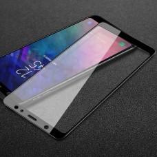 Защитное 5D стекло для Samsung A605 (A6 Plus-2018) чёрное