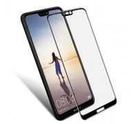 Защитное 5D стекло для Huawei P20 Lite чёрное