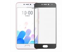 Защитное Full screen стекло для Meizu M5c (чёрный обод)