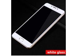 Защитное Full screen стекло для Meizu M5c (белый обод)