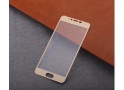 Защитное Full screen стекло для Meizu M5s (золотой обод)
