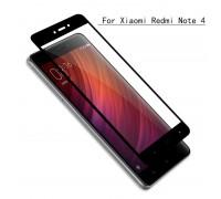 Защитное стекло для телефона Xiaomi Redmi NOTE 4x (чёрное)