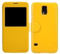Чехол Nillkin Samsung G900 Galaxy S5 Fresh Series Leather Case Yellow