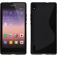 Чехол силиконовый New Line + плёнка для Huawei P7 black