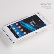 Чехол силиконовый Jekod + плёнка для SONY S36H/Xperia L/C210X прозрачный