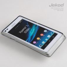 Чехол силиконовый Jekod + плёнка для SONY S36H/Xperia L/C210X черный
