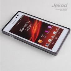 Чехол силиконовый Jekod + плёнка для SONY S39H/Xperia C черный