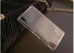 Ультратонкий чехол-накладка для телефона Sony Xperia M4 Aqua, силиконовый