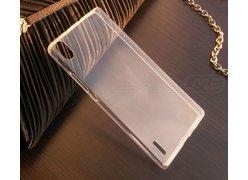 Ультратонкий чехол-накладка для телефона Huawei Ascend P7, силикон