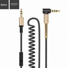 Кабель Hoco AUX UPA02 Smart style с микрофоном 2м (чёрный)