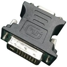 Переходник DVI-VGA Cablexpert A-DVI-VGA-BK, 29M / 15F, черный