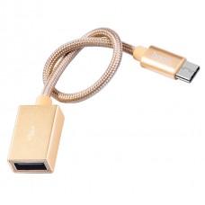 Кабель Hoco UA3 Type-C - USB 0.2м (золотой)